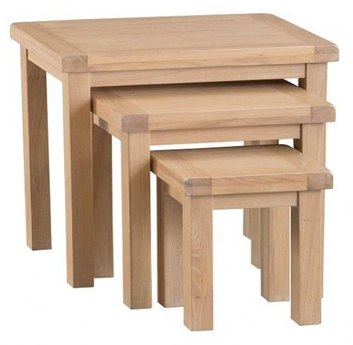 Oxford Oak 3 Tier Nest of Tables